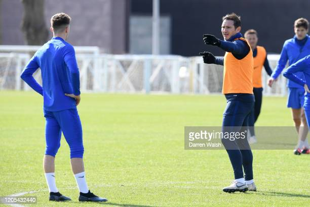 Frank Lampard of Chelsea during a training session at Chelsea Training Ground on March 6 2020 in Cobham United Kingdom