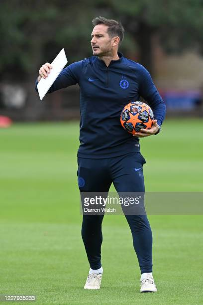 Frank Lampard of Chelsea during a training session at Chelsea Training Ground on August 6 2020 in Cobham England