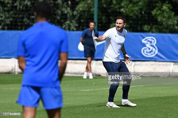 Frank Lampard of Chelsea during a training session at Chelsea Training Ground on August 7 2020 in Cobham England