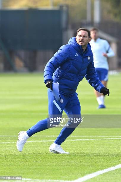 Frank Lampard of Chelsea during a training session at Chelsea Training Ground on October 16 2020 in Cobham England