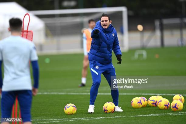Frank Lampard of Chelsea during a training session at Chelsea Training Ground on December 23, 2020 in Cobham, England.