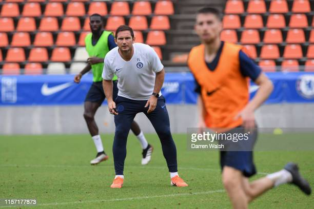 Frank Lampard of Chelsea during a training session at NACK5 Stadium on July 22 2019 in Saitama Japan
