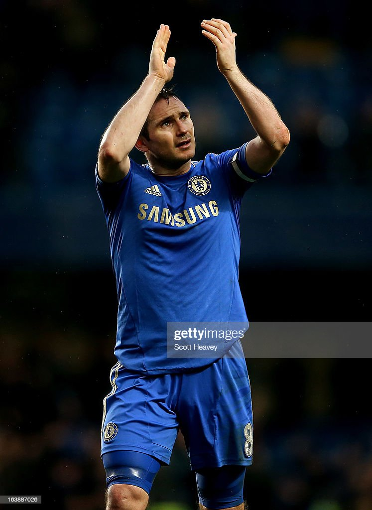 Frank Lampard of Chelsea during the Barclays Premier League match between Chelsea and West Ham United at Stamford Bridge on March 17, 2013 in London, England.