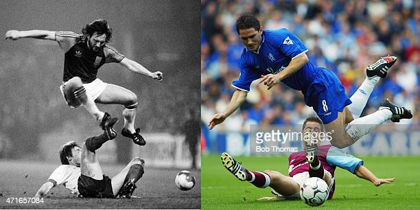 In this composite image a comparison has been made between images 108873931 and 1464017 of Father and Son IMAGE*** West Ham United defender Frank...