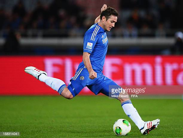 Frank Lampard of Chelsea fires a shot just over during the FIFA Club World Cup Semi Final match between CF Monterrey and Chelsea at International...