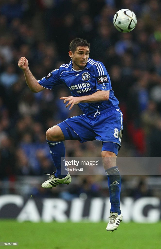 Frank Lampard of Chelsea in action during the Carling Cup Final between Tottenham Hotspur and Chelsea at Wembley Stadium on February 24, 2008 in London, England.