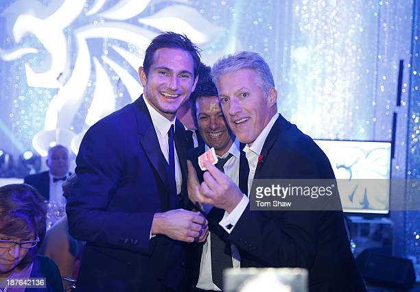 Frank Lampard of Chelsea with the magician during the British Olympic Ball at The Dorchester on October 30 2013 in London England