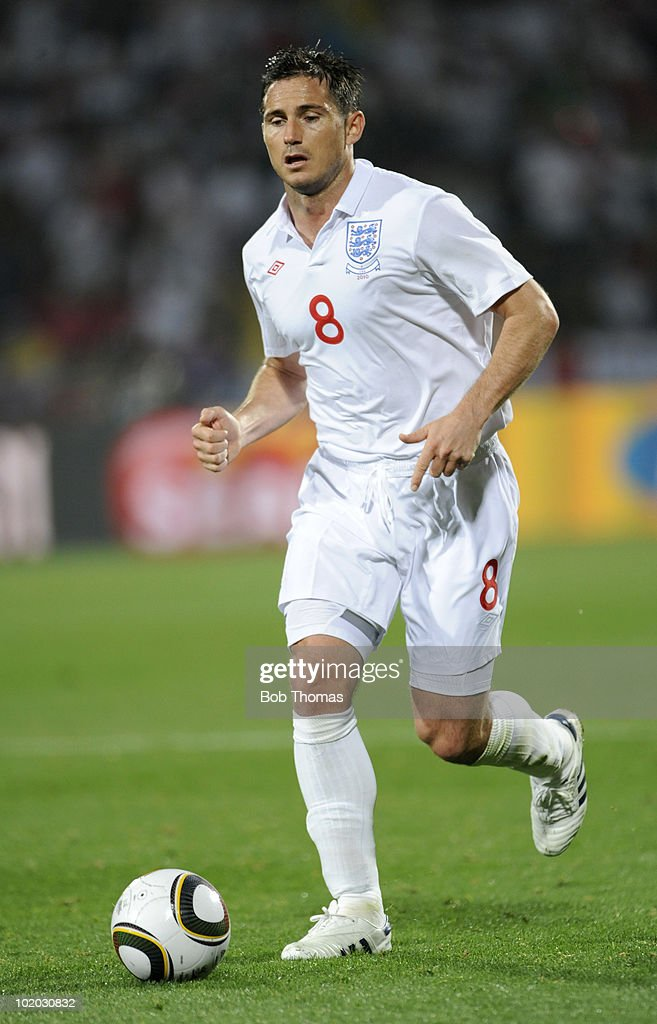 Frank Lampard of England during the 2010 FIFA World Cup South Africa Group C match between England and USA at the Royal Bafokeng Stadium on June 12, 2010 in Rustenburg, South Africa. The match was drawn 1-1.