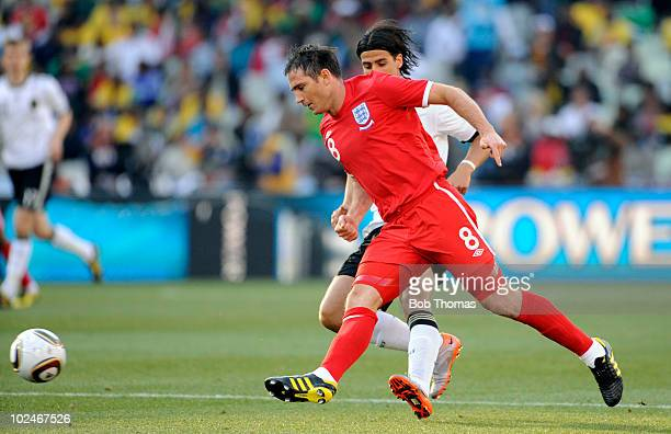 Frank Lampard of England during the 2010 FIFA World Cup South Africa Round of Sixteen match between Germany and England at Free State Stadium on June...