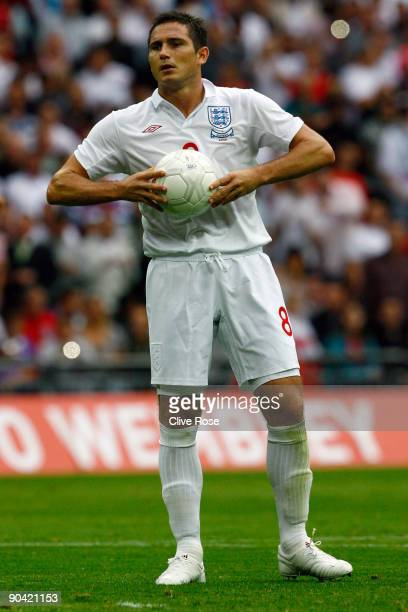 Frank Lampard of England during the International Friendly match between England and Slovenia at Wembley Stadium on September 5 2009 in London England