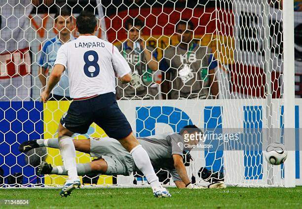 Frank Lampard of England has his penalty saved by Ricardo of Portugal in a penalty shootout during the FIFA World Cup Germany 2006 Quarterfinal match...