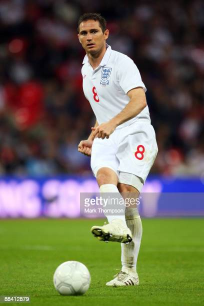 Frank Lampard of England in action during the FIFA 2010 World Cup Group 6 Qualifying match between England and Andorra at Wembley Stadium on June 10...