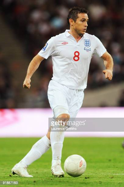 Frank Lampard of England in action during the FIFA 2010 World Cup Qualifying Group 6 match between England and Belarus at Wembley Stadium on October...