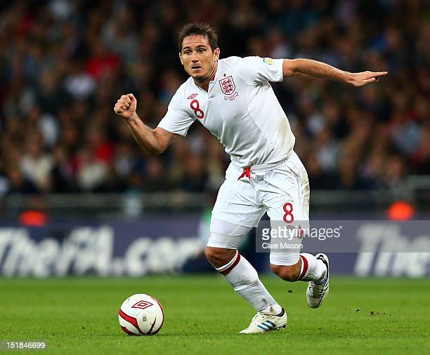 Frank Lampard of England in action during the FIFA 2014 World Cup Group H qualifying match between England and Ukraine at Wembley Stadium on...