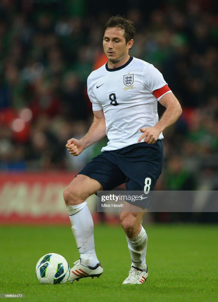 Frank Lampard of England in action on during the International Friendly match between England and the Republic of Ireland at Wembley Stadium on May 29, 2013 in London, England.