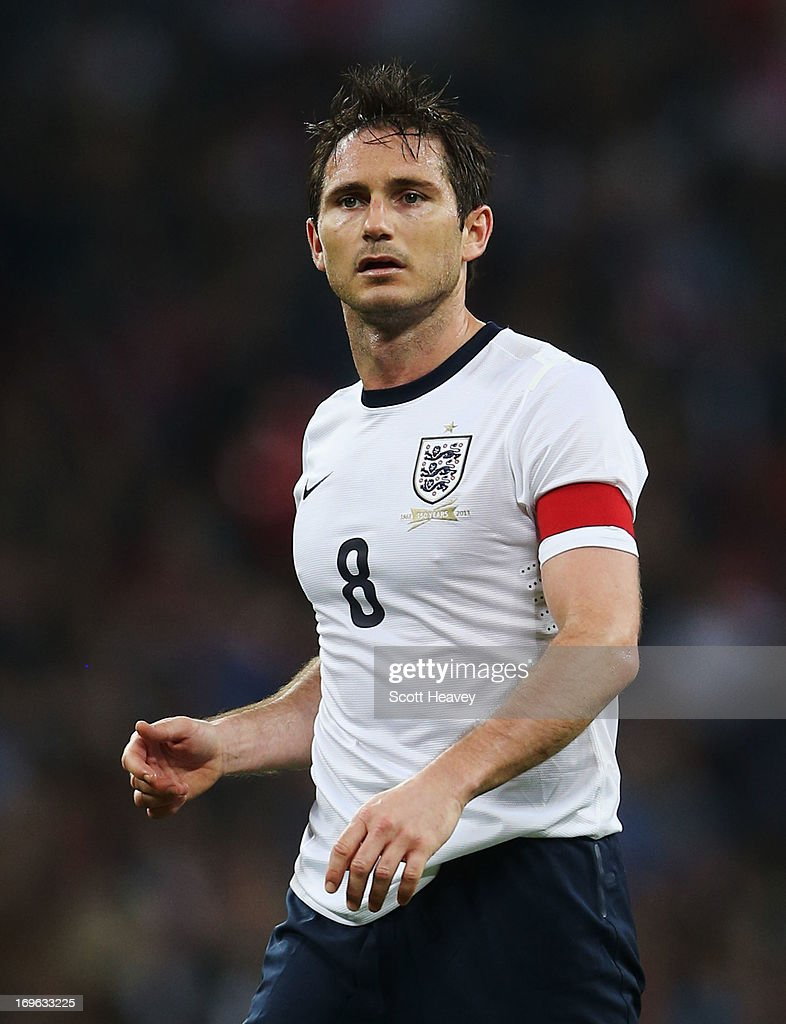 Frank Lampard of England looks on during the International Friendly match between England and the Republic of Ireland at Wembley Stadium on May 29, 2013 in London, England.