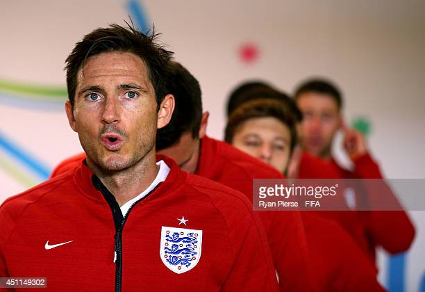 Frank Lampard of England looks on in the tunnel prior to the 2014 FIFA World Cup Brazil Group D match between Costa Rica and England at Estadio...