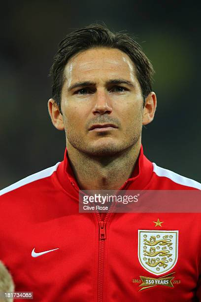 Frank Lampard of England looks on prior to the FIFA 2014 World Cup qualifying match between Ukraine and England at the Olympic Stadium on September...