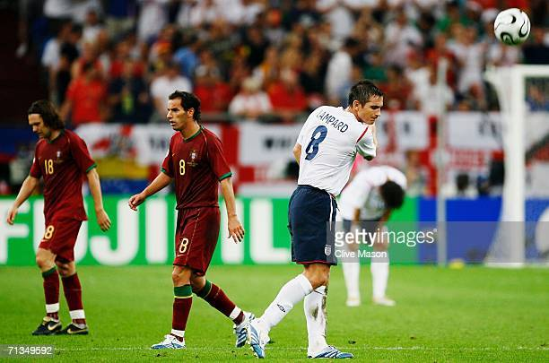 Frank Lampard of England shows his frustration after missing a penalty during the FIFA World Cup Germany 2006 Quarterfinal match between England and...
