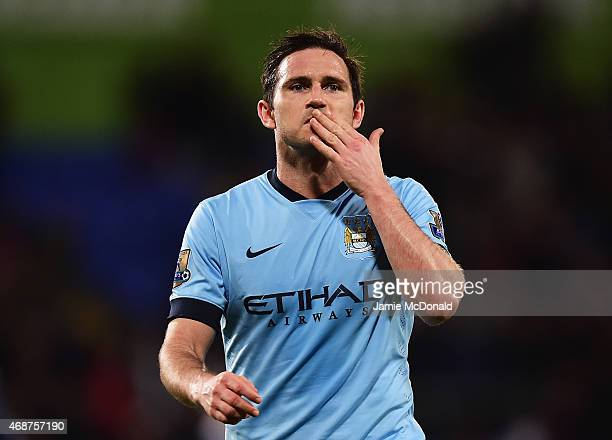 Frank Lampard of Manchester City looks dejected after the Barclays Premier League match between Crystal Palace and Manchester City at Selhurst Park...