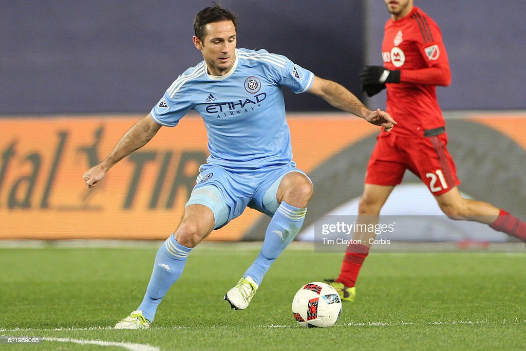 Frank Lampard #8 of New York City FC in action during the NYCFC Vs Toronto FC MLS playoff game at Yankee Stadium on November 06, 2016 in New York City.