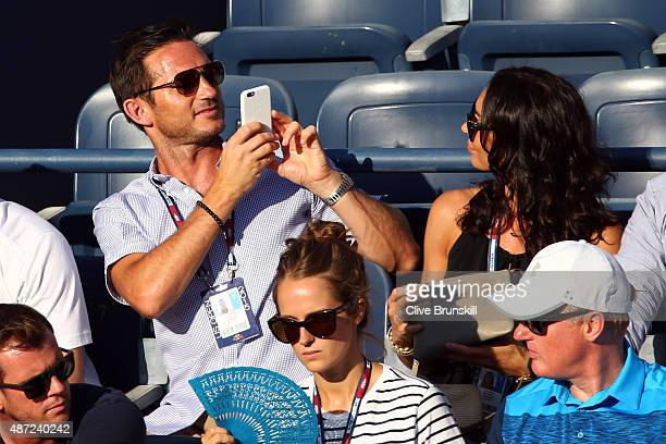 Frank Lampard of the New York City FC television personality Christine Bleakley and wife of Andy Murray of Great Britain Kim Murray attend the Men's...