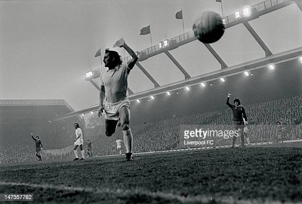 Frank Lampard of West Ham United appeals during the English First Division match between Liverpool and West Ham United held on November 23 1974 at...