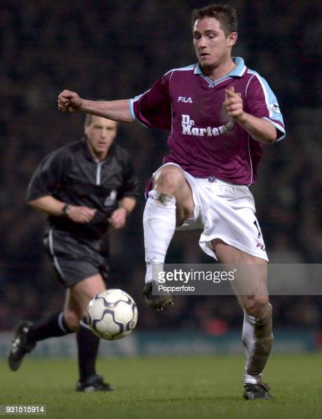 Frank Lampard of West Ham United in action during the FA Carling Premiership match between West Ham United and Chelsea at Upton Park London on March...
