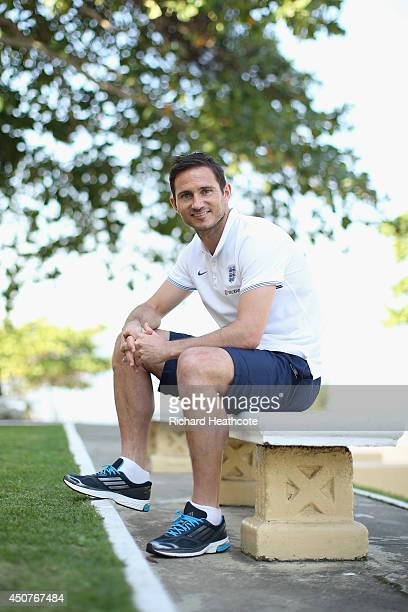 Frank Lampard poses for a picture after speaking to the media in an England press conference at The Urca Miltary Base on June 17 2014 in Rio de...