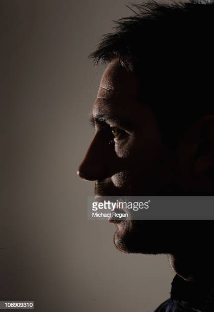 Frank Lampard speaks to the media during the England press conference at Parken Stadium on February 8, 2011 in Copenhagen, .