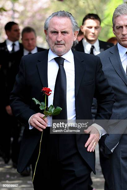 Frank Lampard Sr attends the funeral of his wife Pat at St Margarets Church on May 2 2008 in Barking England The mother of Chelsea's Frank Lampard...
