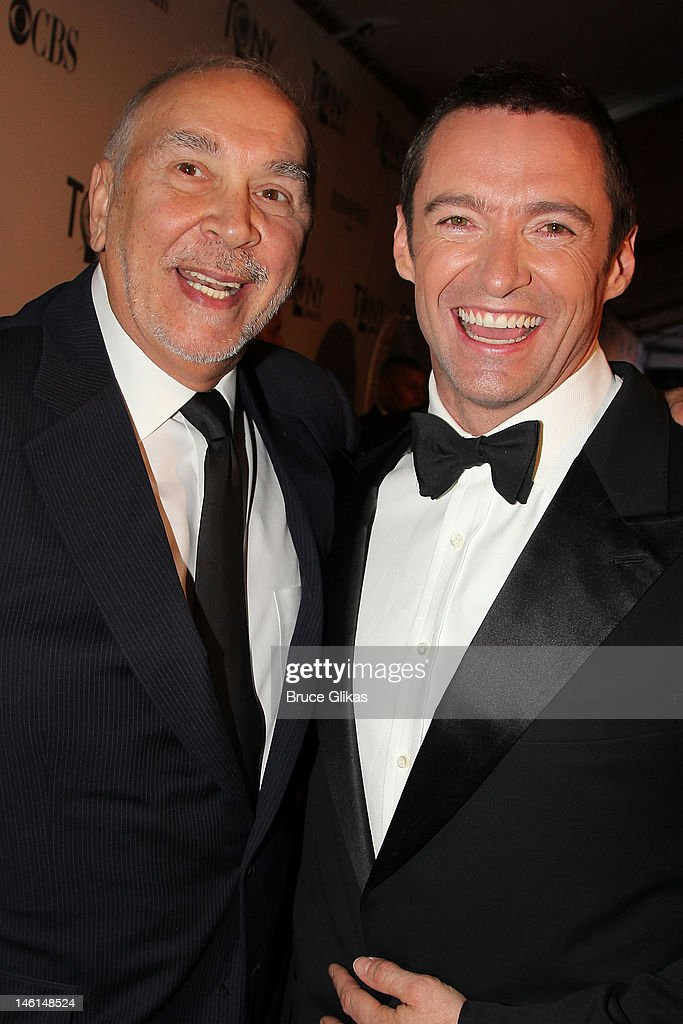 Frank Langella and Hugh Jackman attend the 66th Annual Tony Awards at the Beacon Theatre on June 10, 2012 in New York City.