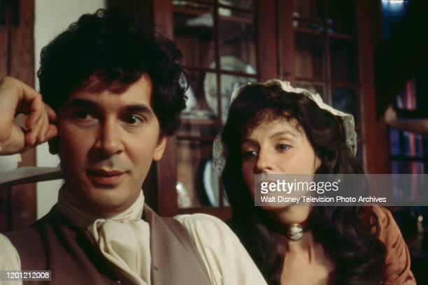 Frank Langella as John Adams Joanna Miles as Abigail Adams appearing in the ABC tv special 'American Woman Portraits in Courage'