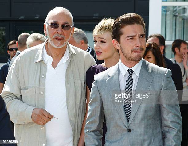 Frank Langella Carey Mulligan and Shia LaBeouf attend the 'Wall Street Money Never Sleeps' Photo Call held at the Palais des Festivals during the...