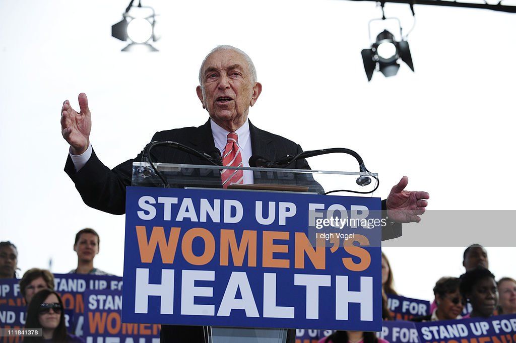 Frank Lautenberg attends the Stand Up for Women's Health Rally at Capitol Hill on April 7, 2011 in Washington, DC.