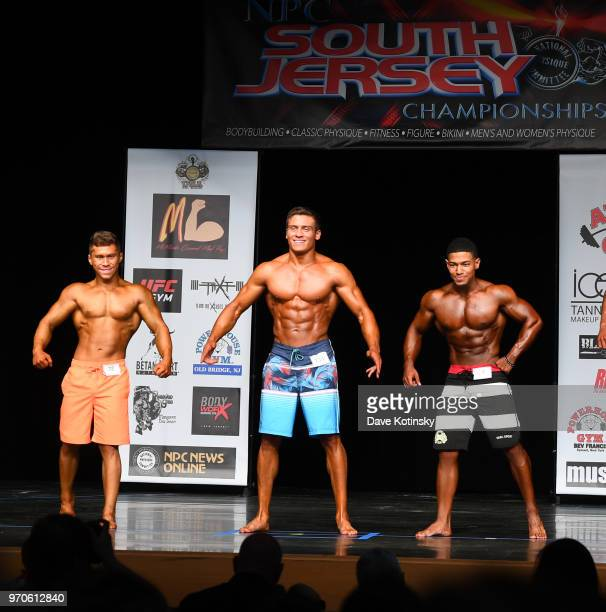 Frank Lawrence Catania competes in the Physique Division of the NPC South Jersey Bodybuilding Championships on June 9 2018 in Medford New Jersey