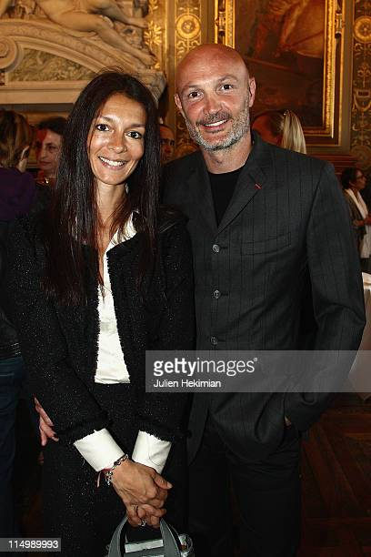 Frank Leboeuf and guest attend '2000 Femmes Pour 2012' operation launch at Mairie de Paris on May 31 2011 in Paris France