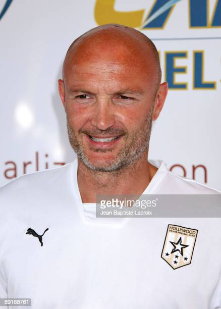 Frank Leboeuf attends the World Football Challenge between Chelsea and Inter Milan at Rose Bowl on July 21 2009 in Pasadena California