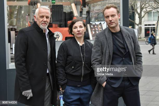 Frank Leo Schroeder Meret Becker and Mark Waschke during the Tatort on set Photo Call on January 22 2018 in Berlin Germany