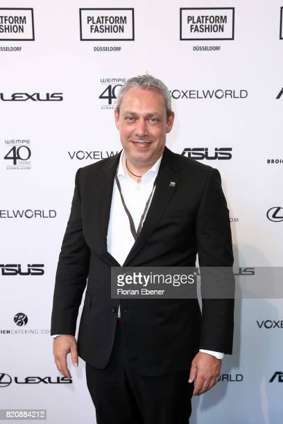 Frank Levy attends the 3D Fashion Presented By Lexus/Voxelworld show during Platform Fashion July 2017 at Areal Boehler on July 22, 2017 in...