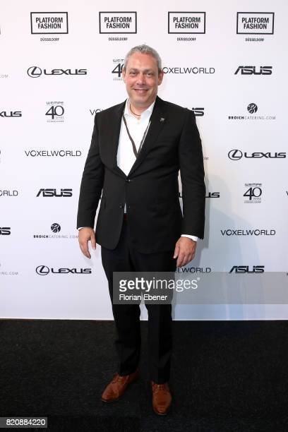 Frank Levy attends the 3D Fashion Presented By Lexus/Voxelworld show during Platform Fashion July 2017 at Areal Boehler on July 22 2017 in...