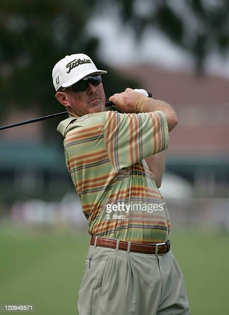 Frank Lickliter during practice for the 2005 US Open Golf Championship at Pinehurst Resort course 2 in Pinehurst North Carolina on June 14 2005