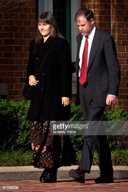 Frank Lindh and Marilyn Walker the parents of American Taliban John Walker Lindh walk 06 February into the Albert V Bryan United States Courthouse in...