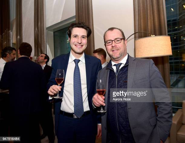 Frank Litzler and Peter Little attend Launch Of New Entity Withers Global Advisors at 432 Park Avenue on April 3 2018 in New York City Frank...
