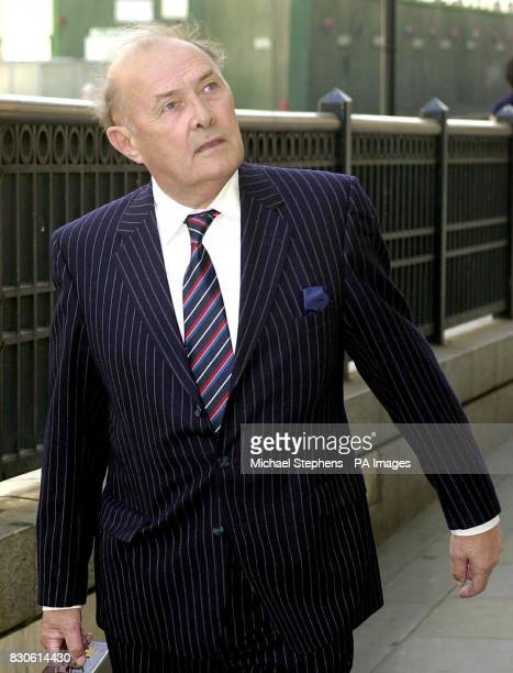 Frank Lockyer the father of solicitor Sally Clark arrives at the Solicitors Disciplinary Tribunal in London Mrs Clark who is serving life for...