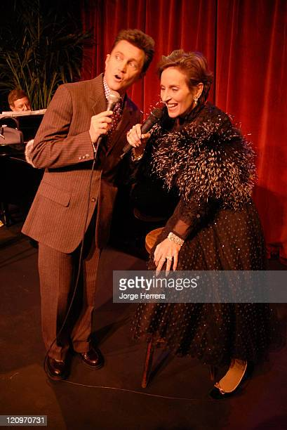 Frank Loesser and Andrea Marcovicci during The American Songbook in London Photocall at Jermyn Street Theatre in London Great Britain