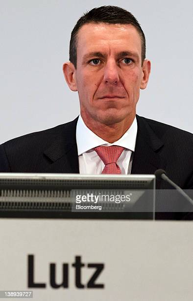 Frank Lutz chief financial officer of MAN SE pauses during a news conference in Munich Germany on Tuesday Feb 14 2012 MAN SE the German truckmaker...