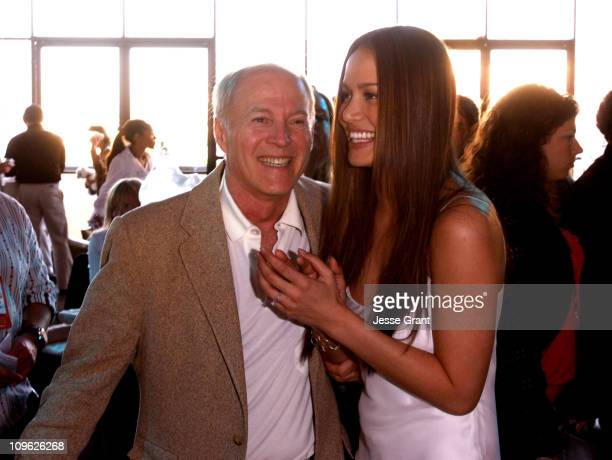 Frank Marshall director and Moon Bloodgood during Eight Below World Premiere After Party at The Highlands in Los Angeles California United States