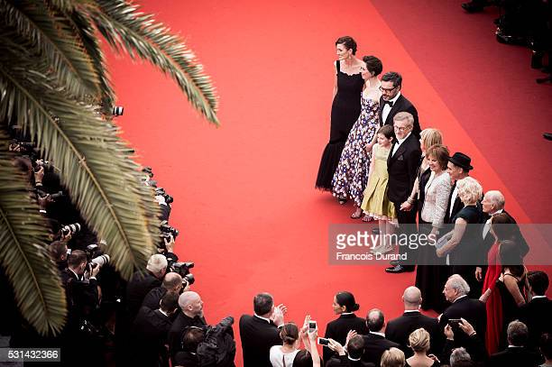 Frank Marshall, Kathleen Kennedy, Kate Capshaw, Steven Spielberg, Ruby Barnhill, Mark Rylance, Claire van Kampen, Lucy Dahl, Penelope Wilton and...