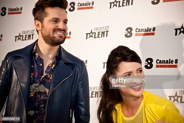 Frank Matano and Lodovica Comello during Italia's Got Talent photo call in Milan on March 10th 2016